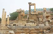 Monumental Gateway Of Memmius Situated In The Corner Of The Domitian Square, Along The Curetes Road  poster