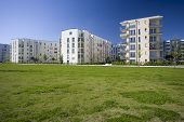 image of munich residence  - Modern starter homes in a housing complex in Munich Germany - JPG