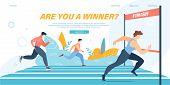 Running Competition, Group Of Athlete Sprinter Sportsmen Team Run Marathon Distance Or Sport Jogging poster