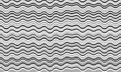Vintage Wavy Stripes Background. Waves, Curve Lines Ripple Texture. Card Background Pattern Vector.  poster