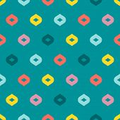 Vector Colorful Geometric Seamless Pattern. Simple Abstract Minimalist Texture With Small Petals, Do poster