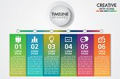 Business Infographics Template.presentation With 6 Steps Or Options.can Be Used For Workflow Layout, poster
