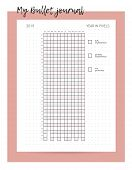 Year In Pixels. Year Organizer. Bullet Journal Your Mood. Habit Tracker Template. Monthly Planer poster