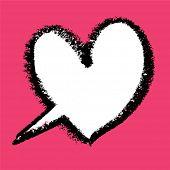 Постер, плакат: Сердце образный речи пузырь Векторные иллюстрации