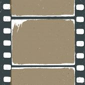 Picture of empty grunge film strip design, may use as a background or overlays.