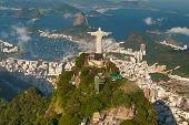 Christ The Redeemer Statue On The Top Of A Mountain, Rio De Janeiro, Brazil poster
