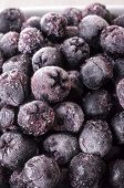 image of aronia  - Frozen Choke berry Closeup - JPG