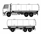 picture of tank truck  - A vector illustration of tank truck  - JPG