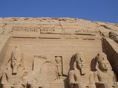 picture of aswan dam  - Statues at Abu Simbel Temple in Egypt - JPG