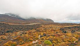picture of scoria  - Lava Field along the Tongariro Crossing in New Zealand - JPG