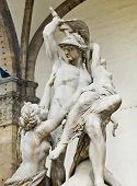 picture of pio  - The Rape of Polyxena sculpture by Pio Fedi in Loggia della Signoria - JPG