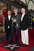 LOS ANGELES - SEP 4:  Ryan Murphy, Jane Lynch, Christopher Guest at the Jane Lynch Hollywood Walk of