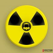 picture of radium  - Icon radiation symbol with gas mask - JPG