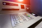 ATM machine. Image include several clipping paths for easily extraction background, screen etc.