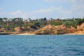 stock photo of vilamoura  - Beach Maria Luisa Albufeira Algarve Portugal Summer - JPG