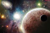 Постер, плакат: Планеты в пространстве