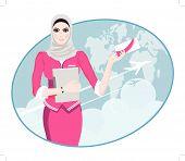 foto of air hostess  - Air Travel - JPG