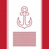 Greetings card with anchor symbol