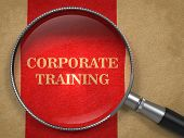 Corporate Training - Magnifying Glass Concept.