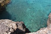 picture of papagayo  - Beautiful blue transparent water of Papagayo beach in Lanzarote Island Spain - JPG
