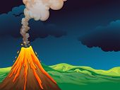 foto of landforms  - Illustration of a volcano - JPG