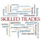 pic of pipefitter  - Skilled Trades Word Cloud Concept with great terms such as plumber welding mason and more - JPG