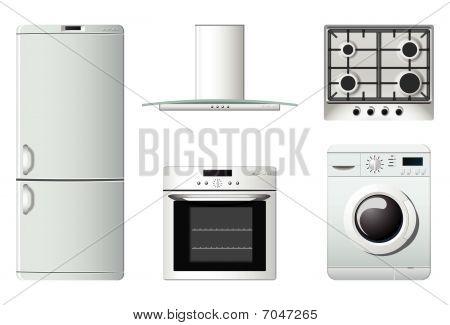 Постер, плакат: Бытовая техника | Кухня, холст на подрамнике