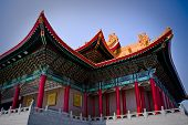 stock photo of zedong  - Powertful colorful Chinese temple in Taiwan - JPG