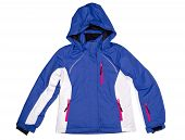 picture of bomber jacket  - Winter sports jacket with a hood - JPG