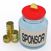 pic of patron  - Sponsor Jar Meaning Donating Helping Or Aid - JPG
