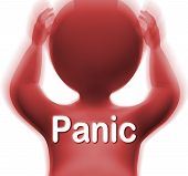 picture of panic  - Panic Man Meaning Fear Worry Or Distress - JPG