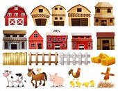 pic of hen house  - Illustration of different pictures of farm - JPG