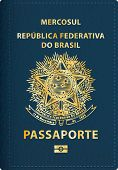 image of passport cover  - vector Brazilian passport cover - JPG