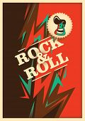 pic of rockabilly  - Illustrated rock and roll poster with abstraction - JPG
