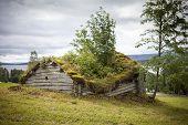 pic of laplander  - Really old wooden shed in Lapland Sweden - JPG