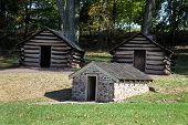 Постер, плакат: Revolutionary War Cabins & Springhouse Valley Forge