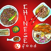 picture of chinese menu  - beautiful hand - JPG