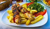stock photo of souvlaki  - Traditional greek food - JPG