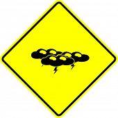 image of thunder-storm  - thunder storm sign - JPG