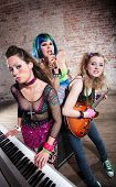 pic of groupies  - Young all girl punk rock band performs - JPG
