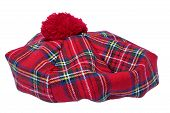 stock photo of headgear  - Traditional Scottish Bonnet also named Tam o - JPG