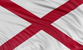 pic of alabama  - Rendering of flag of the US state of Alabama with fabric texture - JPG