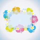 image of tropical island  - This graphic is abstract tropical frame - JPG