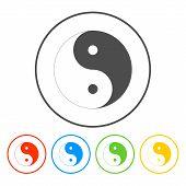 picture of ying-yang  - Yin Yang Symbol  - JPG