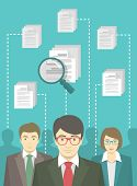 pic of human resource management  - Vector flat conceptual illustration of human resources management - JPG
