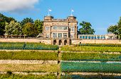 image of palace  - one of the Elbe palaces Lingner palace in Dresden  - JPG