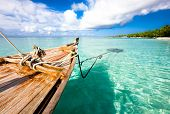 picture of kuramathi  - Boat on the water - JPG