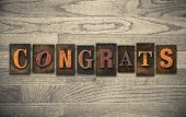 stock photo of congrats  - The word  - JPG