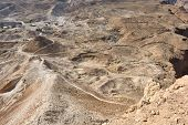 stock photo of zealots  - The archaeological site of Masada - JPG
