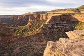 image of semi-arid  - A view of Colorado National Monument from Rim Rock Drive - JPG